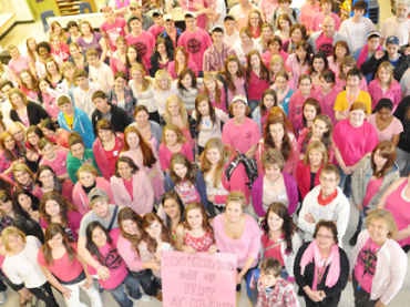 Local students wear pink to combat bullying