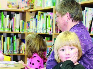 Easter fun came a little early this year at Bay library