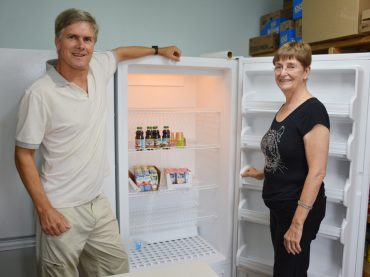 Food bank finds fridge