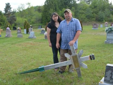 Family angered after wooden cross removed