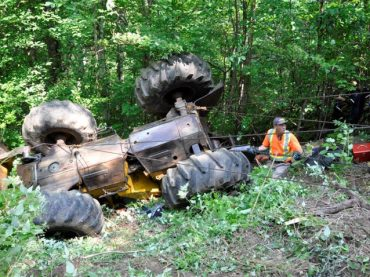 Killaloe man trapped under skidder for two hours