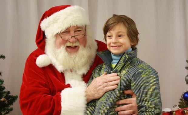 Lex Halliday shared a laugh with Santa at the Madawaska Valley Lions Club's 50th Annual Santa Claus parade.