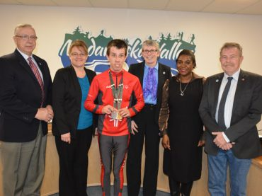 Special Olympian congratulated at latest council meeting