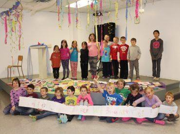 Creative kids at after-school art camp