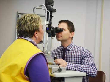 Lions Clubs team up to purchase slit lamp for SFMH