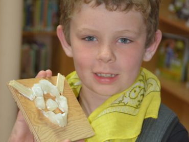 Young rockhounds learn about gems