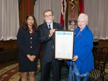 Hospice founding member recognized by province