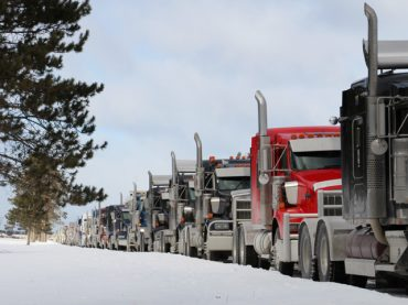 Truckers pay funeral tribute