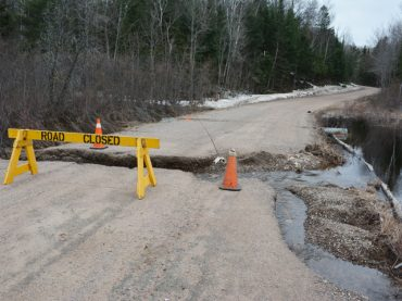 Roads damaged during spring rainfall