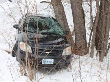 Vehicle found in the ditch on Stafford Street in Barry's Bay