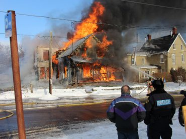 Six families displaced by Eganville Fire