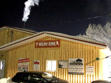 Celebration of new rink building in Wilno
