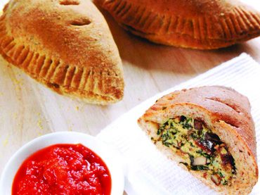 Whole-Wheat Spinach Ricotta Calzones