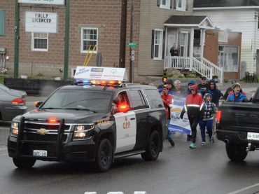 OPP join athletes in torch run through Barry's Bay