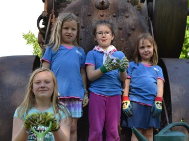 Local Girl Guides lend a helping hand to plant flowers