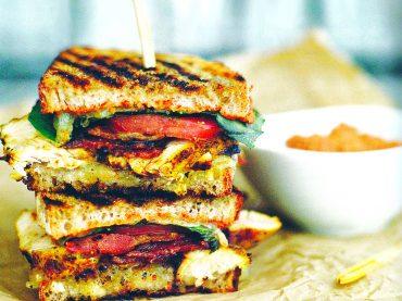 Grilled Adobo Turkey BBT Sandwich