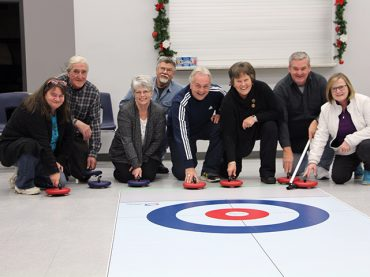 Curling without ice in Madawaska