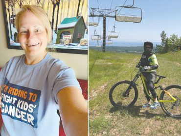 Local cyclist Lynne Yantha gets her wheels turning in support of cancer research