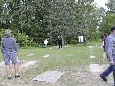 Horseshoes, the original physical distancing game